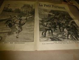 1898  LE PETIT PARISIEN : Un Cheval Se Suicide ; Guerre à CUBA ; Le Nouveau Procès D´ Emile Zola ; - Zeitungen