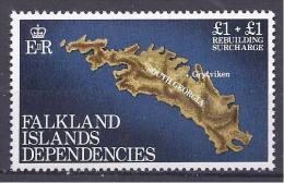 Falkland1962:Michel116mnh** (MAP) - Islands