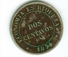 Chile  2 Centimos  1874    #m91 - Chile