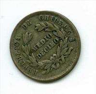 Chile  1/2 Decimo 1887  Silber   #m98 - Chile