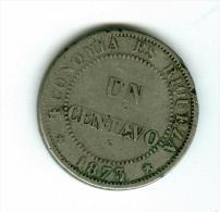 Chile  1 Centavo 1873   #m99 - Chile