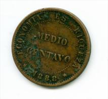 Chile  1/2  Centavo 1888   #m101 - Chile