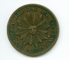 Uruguay 4 Centimos 1869   #m103 - Uruguay