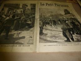 1898  LE PETIT PARISIEN :Panatteria En Sicile; 24 Février 1848 (cinquantenaire); - Zeitungen