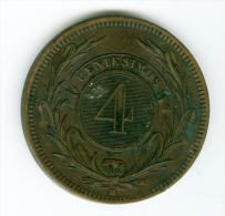 Uruguay 1 Centimos 1869   #m105 - Uruguay