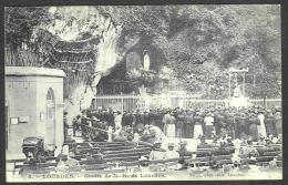 France - CF039 - 2 Scan CP Lourdes - Grotte - Verso Timbre Type Blanc 111 1A - Lourdes