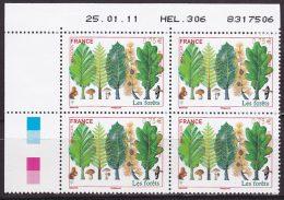 Coin Daté De 4 TP Neufs ** N° 4551(Yvert) France 2011 - Europa, Les Forêts, 25/01/11 - 2010-....