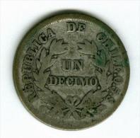 Chile 1 Decimo 1879  Silber        #m130 - Chile