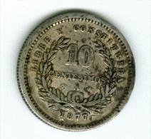 Uruguay   10 Centimos 1877 Silber   KM14        #m132 - Uruguay