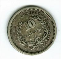 Uruguay   10 Centimos 1877  A Silber   KM14        #m133 - Uruguay