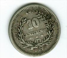 Uruguay   10 Centimos 1877   Silber   KM14        #m134 - Uruguay