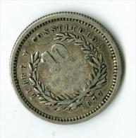 Uruguay   10 Centimos 1877   Silber   KM14        #m135 - Uruguay