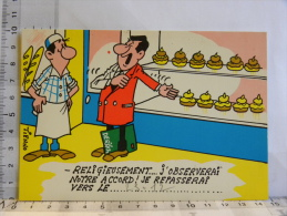 Carte Commerciale DEROCHE 94 CHARENTON, Illustrateur TIENNO, Humour Patisserie, Religieuses Religieusement - Other Illustrators