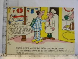 Carte Commerciale DEROCHE 94 CHARENTON, Illustrateur TIENNO, Humour, Remise De Médaille Au Charcutier - Other Illustrators