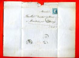 FACTURE TIMBREE 1867 VERRE VITRE COULEURS VERNIS CIMENT BRIQUETERIE BOUTEILLE   J. BREDANT A MERU OISE POUR HOUDAIN NORD - France