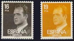 España 1980 Edifil 2558/9 Sellos * D. Juan Carlos I Efigie Del Rey Completa Spain Stamps Timbre Espagne Briefmarke - 1931-Hoy: 2ª República - ... Juan Carlos I