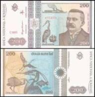 Romania #100-C, 200 Lei, 1992, UNC / NEUF - Rumänien