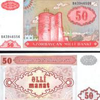 Azerbaijan #17b, 50 Manat, ND (1993), UNC - Aserbaidschan