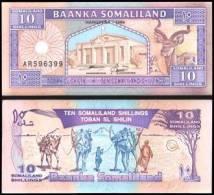 Somaliland #2b, 10 Shillings, 1996, UNC / NEUF - Somalia