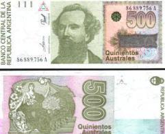 Argentina #328b, 500 Australes, ND (1990), UNC / NEUF - Argentinien