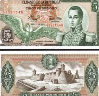 Colombia #406f, 5 Pesos Oro, 1979, UNC / NEUF - Kolumbien