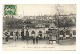 Cp, 47, Agen, La Gare, Et Le Coteau De L'Ermitage, Voyagée 1919 - Agen