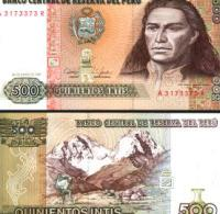 Peru #134b, 500 Intis, 1987, UNC - Peru