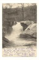 Cp, 23, Près De Bourganeuf, Cascade Des Jarreaux, Voyagée 1904 - Bourganeuf