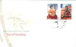 (346) Australian FDC Cover - Premier Jour Australie - 2011 - Australia Korea Friendship - FDC