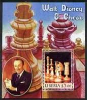 55416 - Liberia 2005 Walt Disney & Chess #1 Perf S/sheet Unmounted Mint - Liberia