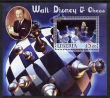 55418 - Liberia 2005 Walt Disney & Chess #3 Perf S/sheet Unmounted Mint - Liberia