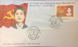 Vietnam: Communist Leader Nguyen Van Cu - 2012 Cover Fine And Rare (withdrawn) - Briefe