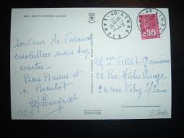 CP TP MARIANNE DE BEQUET 0,80F OBL. 13-8-1976 LINXE (40 LANDES) - Poststempel (Briefe)
