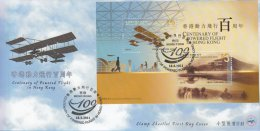 Hong Kong China Stamp On CPA FDC: 2011 Centenary Of Powered Flight In Hong Kong Souvenir Sheet HK123364 - 1997-... Région Administrative Chinoise