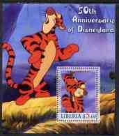 65745 - Liberia 2005 50th Anniversary Of Disneyland #01 (Tigger) Perf S/sheet Unmounted Mint - Liberia