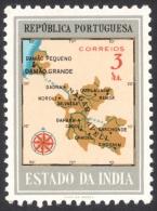 Portuguese India, 3 R. 1957, Sc # 552, Mi # 517, MH - Portuguese India
