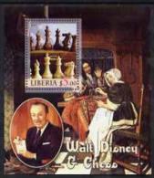 55417 - Liberia 2005 Walt Disney & Chess #2 Perf S/sheet Unmounted Mint - Liberia