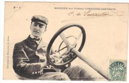 Rougier Sur Voiture Lorraine Diétrich Circuit De La Sarthe Cpa 72 Courses Automobiles - Le Mans