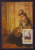 """LADY INSIDE"" , THEODOR AMAN,PAINTER, 1983, CM, CARTES MAXIMUM,MAXICARD,ROMANIA - Künste"