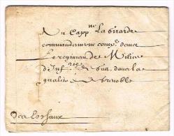 """LOUIS XIV - Versailles Le 1er Janvier 1689, Lettre Signée """"LOUIS"""" (Secrétaire) Pour Le Capitaine Commandant Le Régiment - Autographes"""
