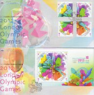 Hong Kong China Stamp On CPA FDC: 2012 London Olympic Games Stamp & Souvenir Sheet HK123339 - 1997-... Chinese Admnistrative Region