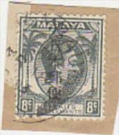 Japan Occupation Of Malaya-8c Used On Piece - Ocupacion Japonesa