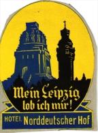 9 Hotel Labels Deutschland Allemagne Duitsland Munchen Deutcher Kaiser Raab Mein Leipzig Lob Ich Mir -Bahnhof Koln - Hotel Labels