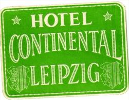10 Hotel Labels Deutschland Allemagne Duitsland Leipzig Wiesbaden Hamburg Stuttgart Heidelberg Herzog Ernst Marktplatz - Hotelaufkleber