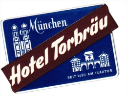 10 Hotel Labels Etiketten  Kaiserhof Nurnberg - Torbrau Munchen - Haml Konstanz - Minerva Koln - Boppard C1950 - Hotelaufkleber
