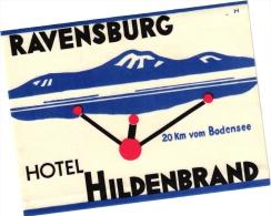 10 Hotel Labels Deutschland Allemagne DuitslanGloria Mannheim Nizza Wiesbaden Taunus Hansa Solitude Stuttgart Ravensburg - Hotelaufkleber
