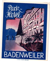 10 Hotel Labels , Etiketten Eutschkand Duitsland Germany   Huss  Lahn Bochum Bernkastel Mosel Iserlohn -adenweiler Baden - Etiketten Van Hotels