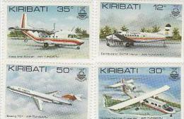 Kiribati-1982 Air Tungaru Set MNH - Airplanes
