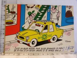Carte Commerciale DEROCHE 94 CHARENTON, Illustrateur TIENNO, Humour  Demander La Main De La Fille D'un Berger Landais - Unclassified
