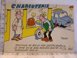 Carte Commerciale DEROCHE 94 CHARENTON, Illustrateur TIENNO, Humour Charcuterie, Boudin, Pneu Crevé - Unclassified